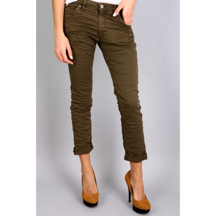 PLEASE JEANS P85ADR74U1 BAGGY ZIELONE